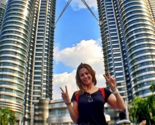 Foto Torres Petronas desde la fuente