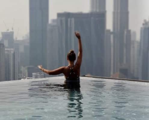 Vistas Torres Petronas desde Infinity Pool
