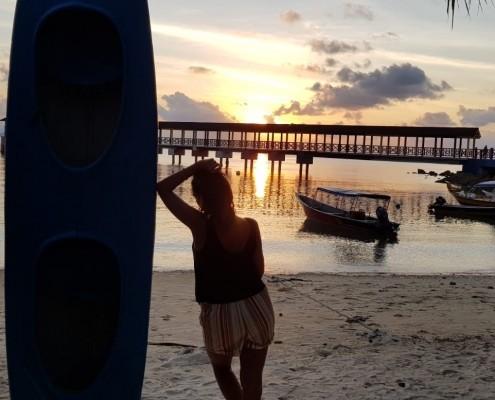 Atardecer en Coral Beach, ISLAS PERHENTIAN