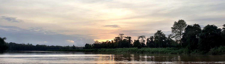 Atardecer desde el Rio Kinabatangan Borneo