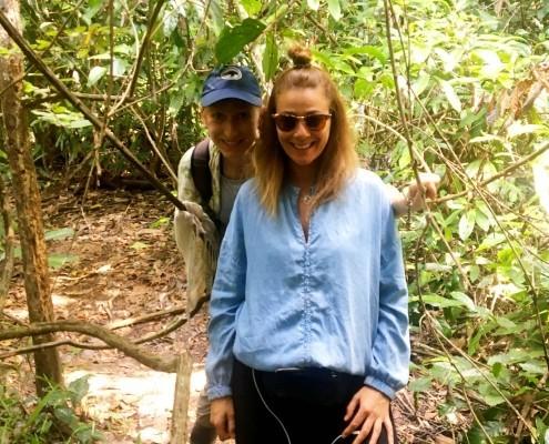 De excursion por la Selva junto al Río Kinabatangan con la espectacular Sandra